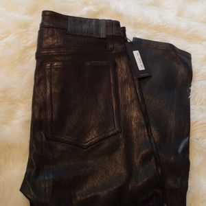 New JOE'S 100% LEATHER  THE CHARLIE JEANS size 30